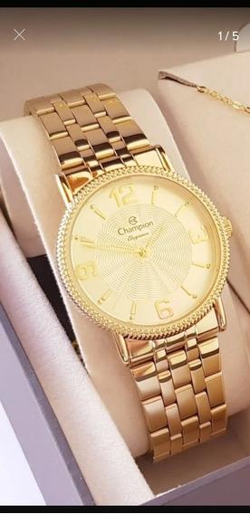 Relógio Banhado A Ouro