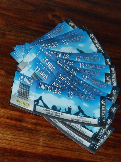 15 Tarjetas Tipo Boliche Ticketek Cumpleaños 15 18 Años