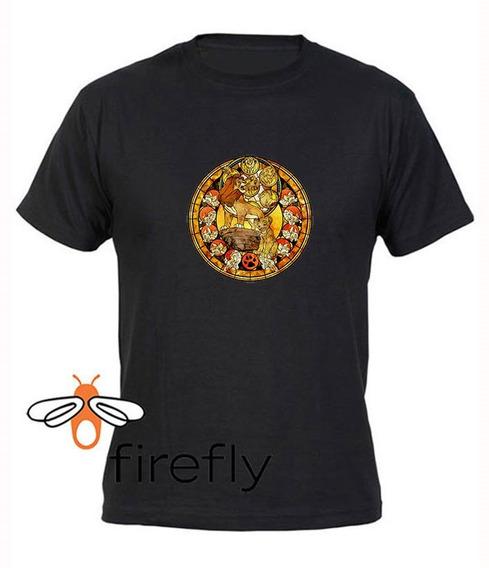Remera El Rey Leon Hombre Negro Coleccion 3 Firefly