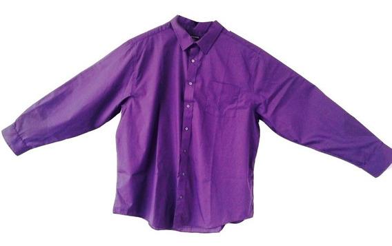 Camisa Vestir Manga Larga George Talla Extra 3xl