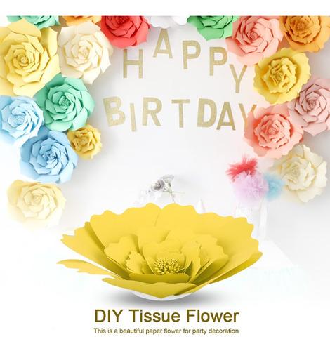 Imagen 1 de 6 de Diy - Decoración De Flores De Papel De Seda Para Cumpleaño