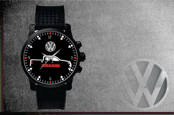 Relógio De Pulso Personalizado Desenho Vw Amarok