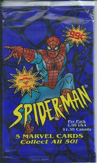 Spiderman. 5 Marvel Cards Collect All 50