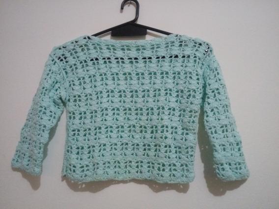 Sweater Top Tejido A Mano + Musculosa De Hilo