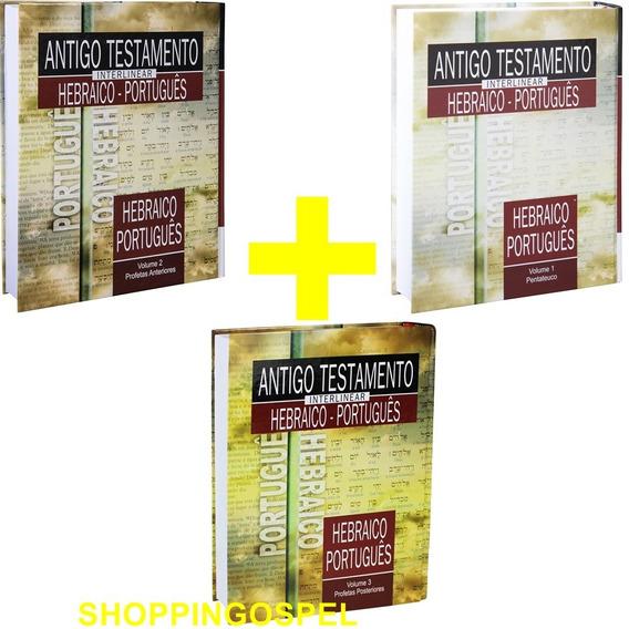 Antigo Testamento Interlinear Hebraico-port 3 Volumes