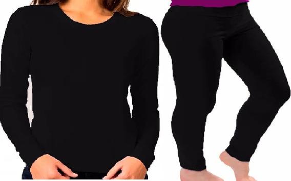 Combo Termico Mujer Remera + Calza Chupin T A Especial 3x-6x