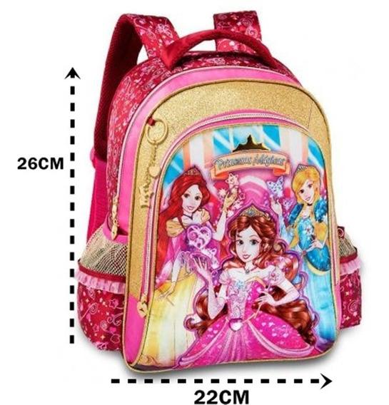 Mochila Creche Infantil Costas Princesas Mágicas Escolar