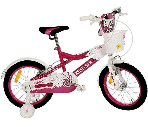 Bicicleta Monark Bmx Ranger Aro 16 Alumínio Com Cesta