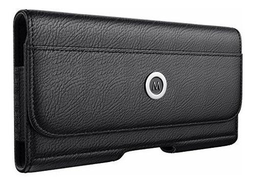 Meilib Galaxy S9 Clip De Cinturon Funda De Cuero Bolsa Con