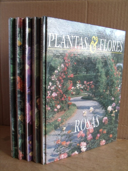 Lote Coleçao Plantas E Flores 5 Volumes Otimo Estado