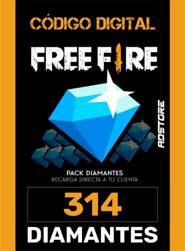 Imagem 1 de 9 de Free Fire Garena Freefire 314 Diamantes Recarga Na Conta