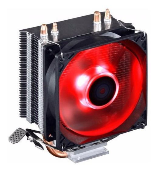 Cooler Processador Gamer Dex Dx-9000 Led Vermelho Intel Amd