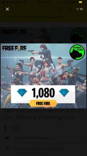 1060 Diamantes Free Fire Más Bonus!!