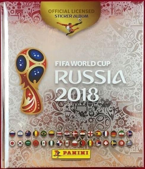 Álbum Prata Capa Dura Copa Rússia 2018 - Completo Para Colar