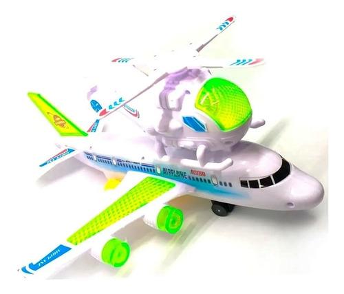 Avion Helicoptero Con Movimiento Luces Y Sonido