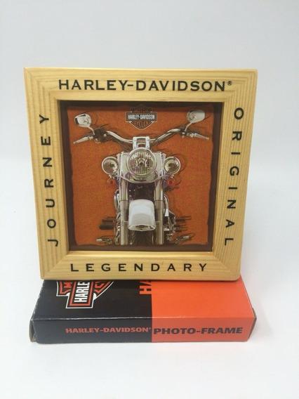 Harley Davidson Porta Retrato Foto 12x12 Porta Cds Original