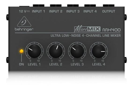 Mixer Compacto Behringer Mx400 Micromix 4 Entradas 110v