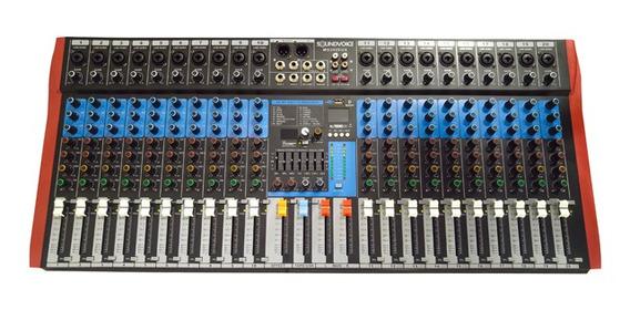 Mesa Som 20 Canais Combo Xlr/p10 Usb/bluetoot Efx Soundvoice