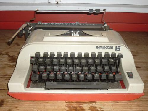 Antigua Maquina De Escribir Reminton 15.