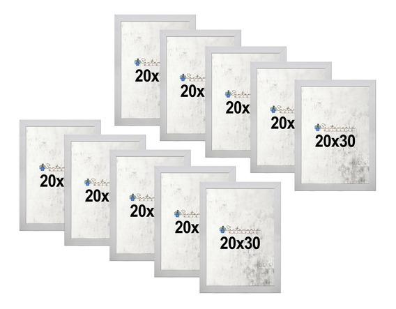Kit 10 Porta Retrato 20x30 A4 Atacado Foto Moldura Branco