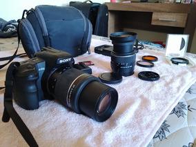 Camera Semi Profissional Sony Alpha 200 C/ 2 Lentes