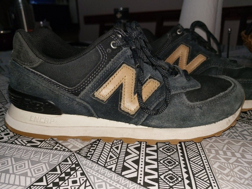 Zapatillas New Balance 574 Originales Negras Con Marron ...