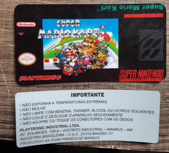 Kit 2 Labels Snes - Mario Kart (tenho Diversos Títulos)