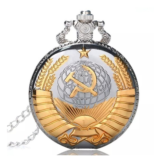 Reloj De Bolsillo Urss (oz Y Martillo) Dorado.