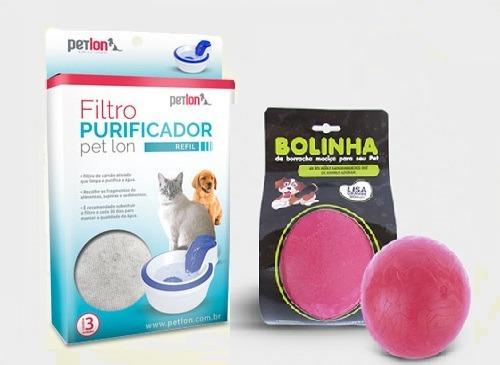Kit 4 Caixas Filtro Fonte Bebedouro Petlon + Bolinha Lisa