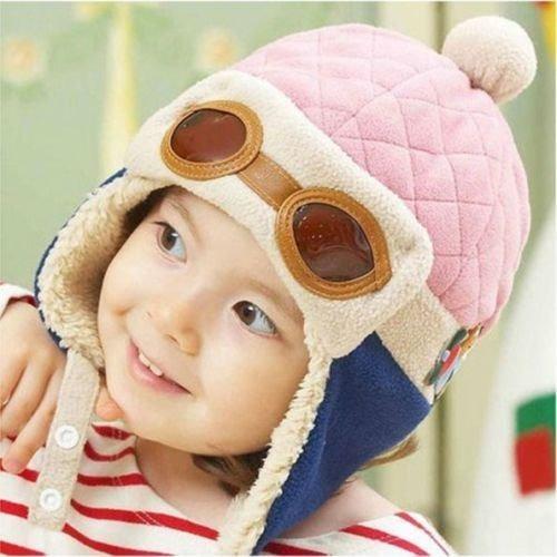 Touca Gorro Aviador Piloto Menina Infantil Criança Boné Luxo