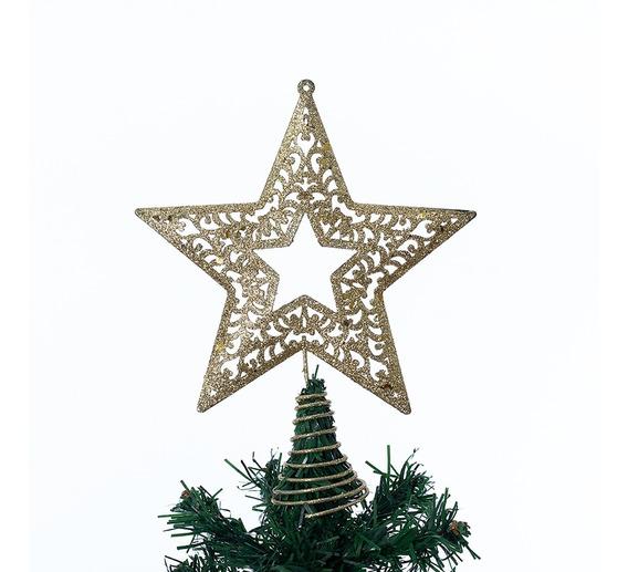 Estrella Punta Para Árbol Navidad Metal