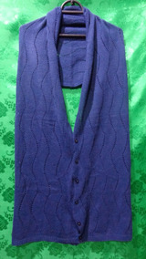 Cachecol - Echarpe Feminino De Lã Azul