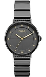 Relógio Euro Preto Strass Eu2035yob/4p