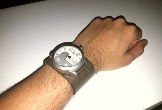 Relógio Chilli Beans [couro Legítimo] - Verde Militar [novo]