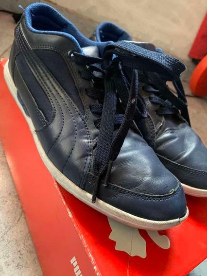 Zapatillas Puma Hombre Talle 41 Azul Marino Poco Uso