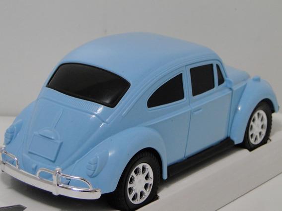 Aki Miniatura Fusca Azul 1967 Carrinho Coleção Volkswagem