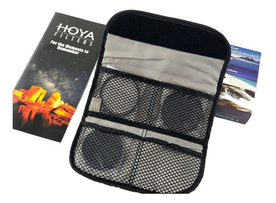 Filtros Hoya Com Polarizador, Uv E Nd8 De 58mm Com Case