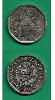 Grr-moneda De Perú 1 Sol 2018 - Pava Aliblanca