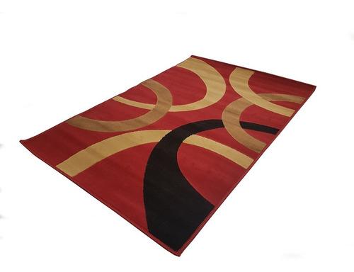 Imagen 1 de 9 de Carpeta Alfombra Spirit Bordo Beige Negro 133 X 190 Cm Soul