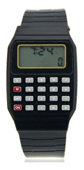 Relógio Pulso Digital Calculadora Preto Barato Melhor Preço