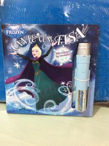 Livro Cante Com A Elsa, Com Microfone De Verdade
