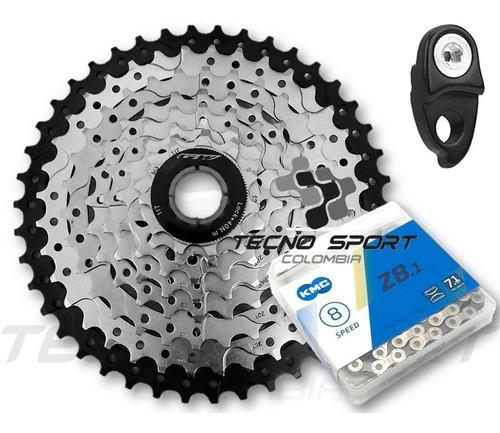 Combo Pacha Cassette Gw 8 V 11-42 + Cadenilla Kmc Bicicleta