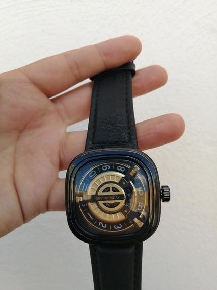 Reloj Sevenfriday De Lujo Correa De Piel