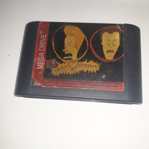 Jogo Mega Drive Beavis And Butthead . Original Tectoy