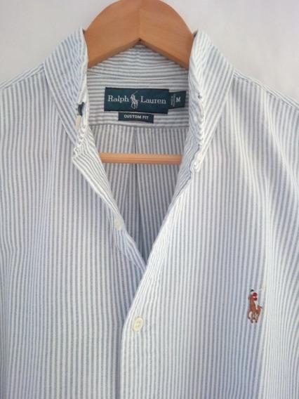 Camisa Polo Ralph Lauren A Rayas En Tono Azul Claro