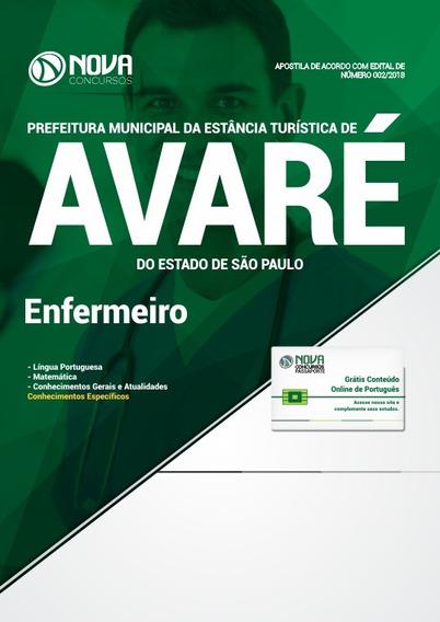 Apostila Prefeitura De Avaré-sp 2018 - Enfermeiro