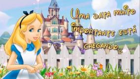 Convite Virtual Animado Alice No País Das Maravilhas