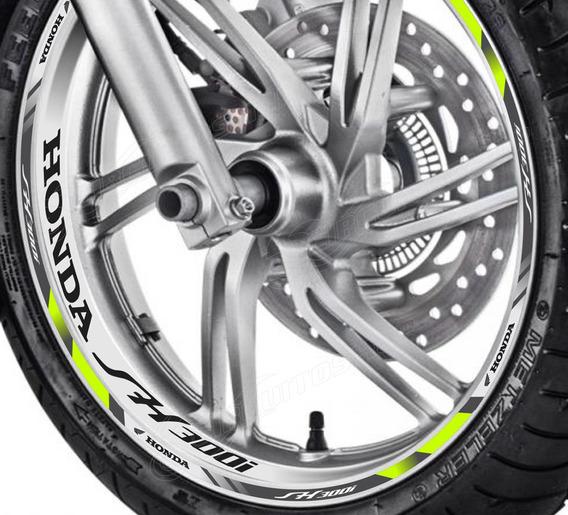 Friso + Adesivo Interno Refletivo D3 Roda Moto Honda Sh 300i