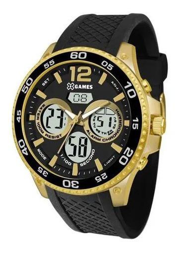Relógio X Games Masculino Ref: Xmgpa001 P2px Anadigi Dourado