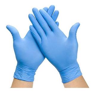 Guante Nitrilo Azul Sin Polvo Desechable Grado Alimenticio